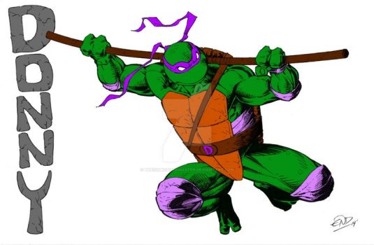 Donatello by Eric D. Ninaltowski (Colored) by TheComicBookMaster