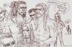 My orcs and elf by Excel-K