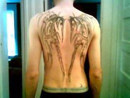 back tattoo by johncro13