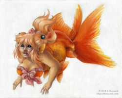 The Mermaid Manual: Goldfish by SBuzzard