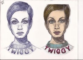 Sketchbook Icons No.1 - Twiggy by Neon-Light-Cortege