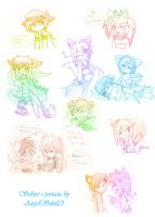 .:Chara Sketches:. by AngelSoleil21