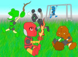 Baby Bionicles by CaptainCoolYo