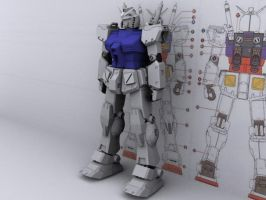RX-78-2 Ka WIP 03 by Karyudo-DS