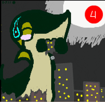 vore- DJ snivy destroiyng the city by TailTehEeveelution
