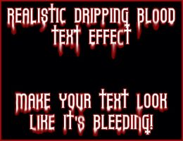 Realistic Blood Text Tutorial by Yuna-Hime