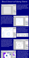 Lineart and Coloring Tutorial by Emma-luvs-Bee