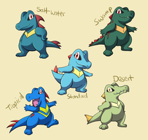 Pokemon Subspecies: Totodile by CoolPikachu29