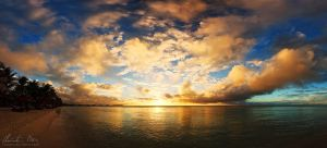 Sunset in Mauritius by Nightline