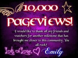 10,000 Pageviews! by Chrisily