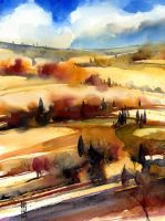 Campagna toscana by andreuccettiart