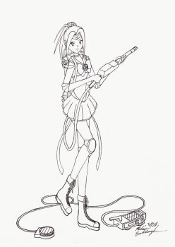 Sailor Ghostbuster WIP by Adrastia217