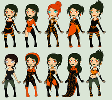 Pumpkin Outfits by ThexStarxDestroyer