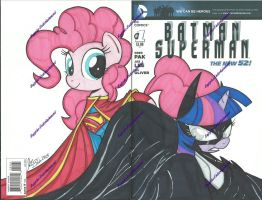 Batmansupermancover by PonyGoddess