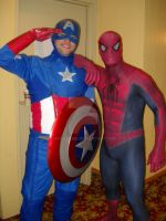 Captain America and Spiderman by hoganvibe