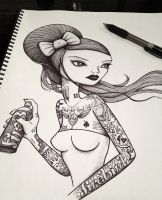 Tattooed Girl by def-aced