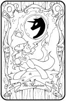 The Magician Pony Tarot rough by Inkwell-Pony