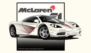 McLaren F1 LineArt by MarisDesign