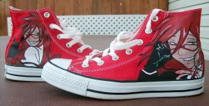Custom Painted Grell Shoes by NikkiXOdd4eva