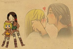Snk Ymir x Christa by pipapipo