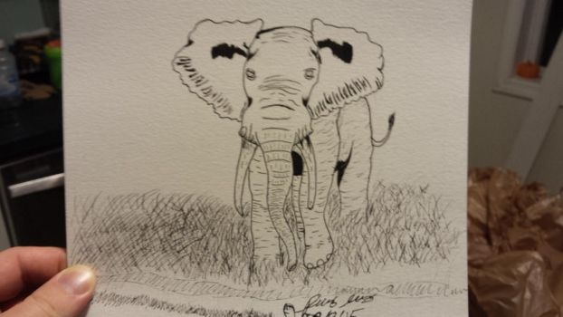 African elephant pend. by Flames3531