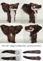 Aten plush WIP by dot-DOLL