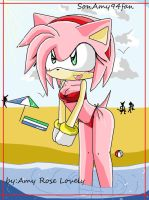 Amy and  the beach by sonamy94fan