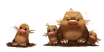 DAY 464. Kanto 050 - 051 by Cryptid-Creations