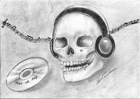 Music and Skull by Jodi0427