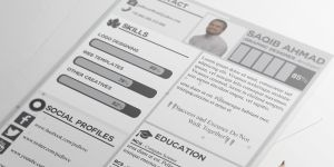 Free CV Template for Graphic Designer by PSDlovefreebies