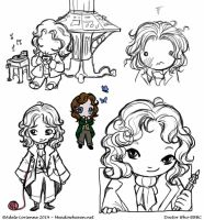 Eighth Doctor chibis by Saimain