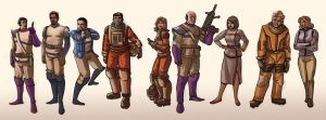 Space 1999 characters by davidhueso