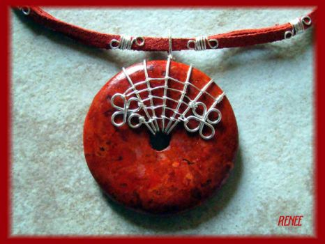 Red Coral pendant by jasmin7