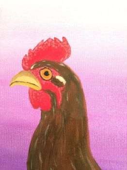 Chicken painting?? by F00000d