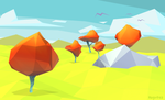 Green Fields - 3D test by DUCKAZOID