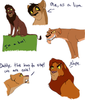 Lion King 2 Doodles by SheaTheDestroyer