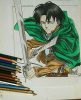 Rivaille ackerman (Attack on titan) drawing by maldiakbar1