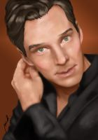 Benedict Cumberbatch by some1whowants2draw