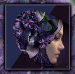 Amish woman with fractal hat by marijeberting