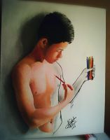 3d drawing by Arthur T. Cortez  (makulay na ak by ATCdrawings