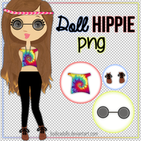 Ropa PNG Doll Hippie by BodicaDolls