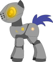 heavy armor pony, gunner by Camperschaf