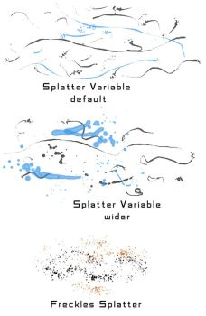 Splatter With Freckles: Two Brushes (free) by elainegreywalker