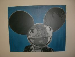 Deadmau5 stencil by Boomrain