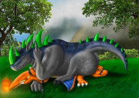 Ceros and Zard by Darkdeathgrace
