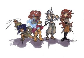 Iris and Her Friends-Chibi-fied(2005) by La-Nora