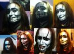My lil sister as The spine-makeup Second try! by ZoraSteam