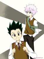 Gon and Killua: Are you ready for school? by cbsky