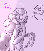 PINKIE PIEXTWILIGHT SPARKLE TWIPIE LINEART by rei- by DEVIOUS-DISCORD-RP