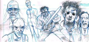 chainsaw tribute pencils by frankenart